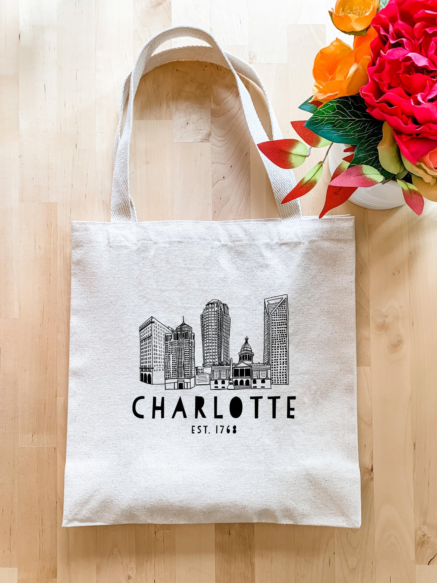Charlotte, NC - Tote Bag - MoonlightMakers