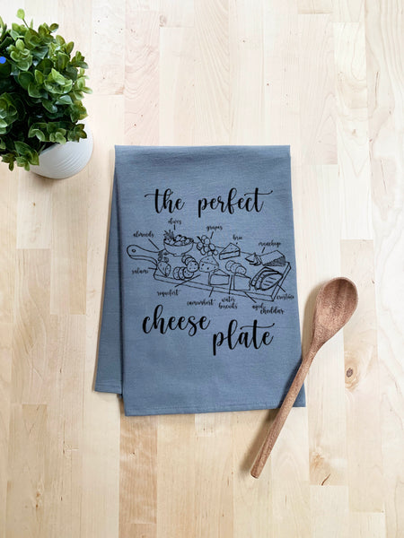 The Perfect Cheese Plate Dish Towel - White Or Gray - MoonlightMakers