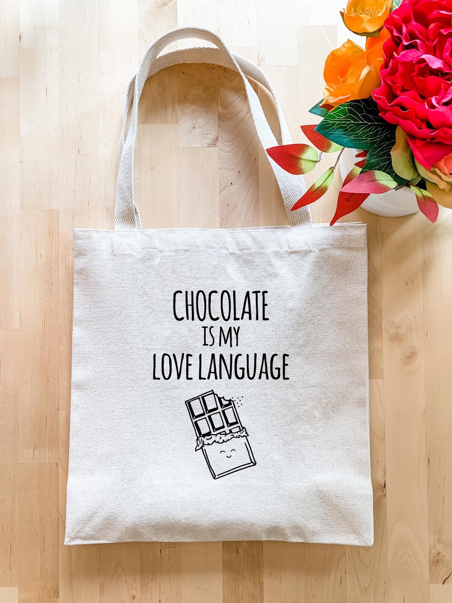 Chocolate is my Love Language - Tote Bag - MoonlightMakers