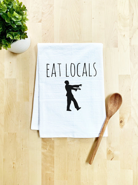 Eat Locals Dish Towel - White Or Gray - MoonlightMakers