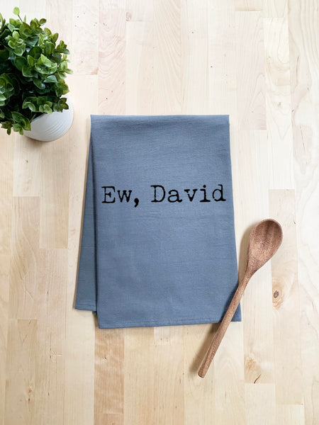 Ew, David Dish Towel - White Or Gray - MoonlightMakers
