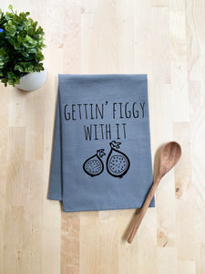 Gettin' Figgy With It Dish Towel - White Or Gray - MoonlightMakers