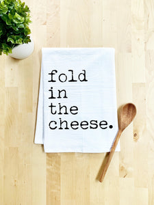 Fold In The Cheese Dish Towel - White Or Gray - MoonlightMakers