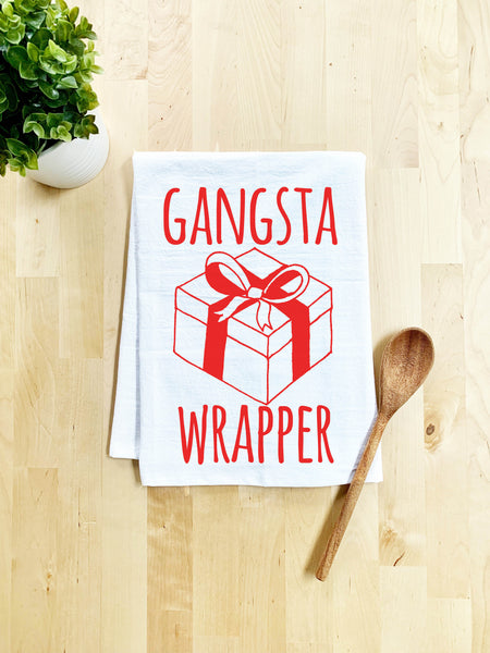 Gangsta Wrapper Dish Towel - White or Gray - MoonlightMakers