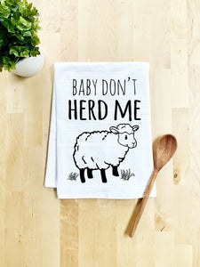 Baby Don't Herd Me Dish Towel - White Or Gray - MoonlightMakers