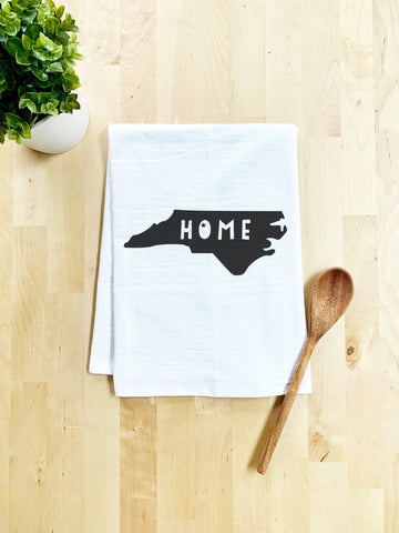 Home, North Carolina State Dish Towel - White Or Gray - MoonlightMakers