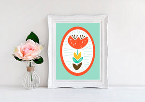 Flower Nursery Print, Single Tulip Print - Available in Two Colors - MoonlightMakers