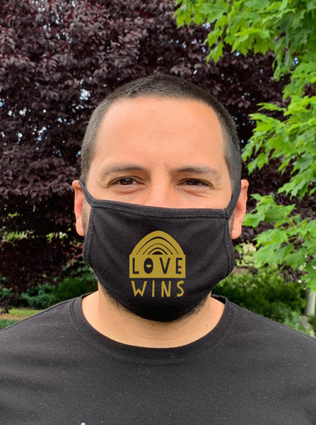Love Wins - Cloth Mask - Black - MoonlightMakers