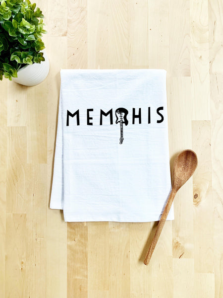 Memphis (TN) Dish Towel - White Or Gray - MoonlightMakers