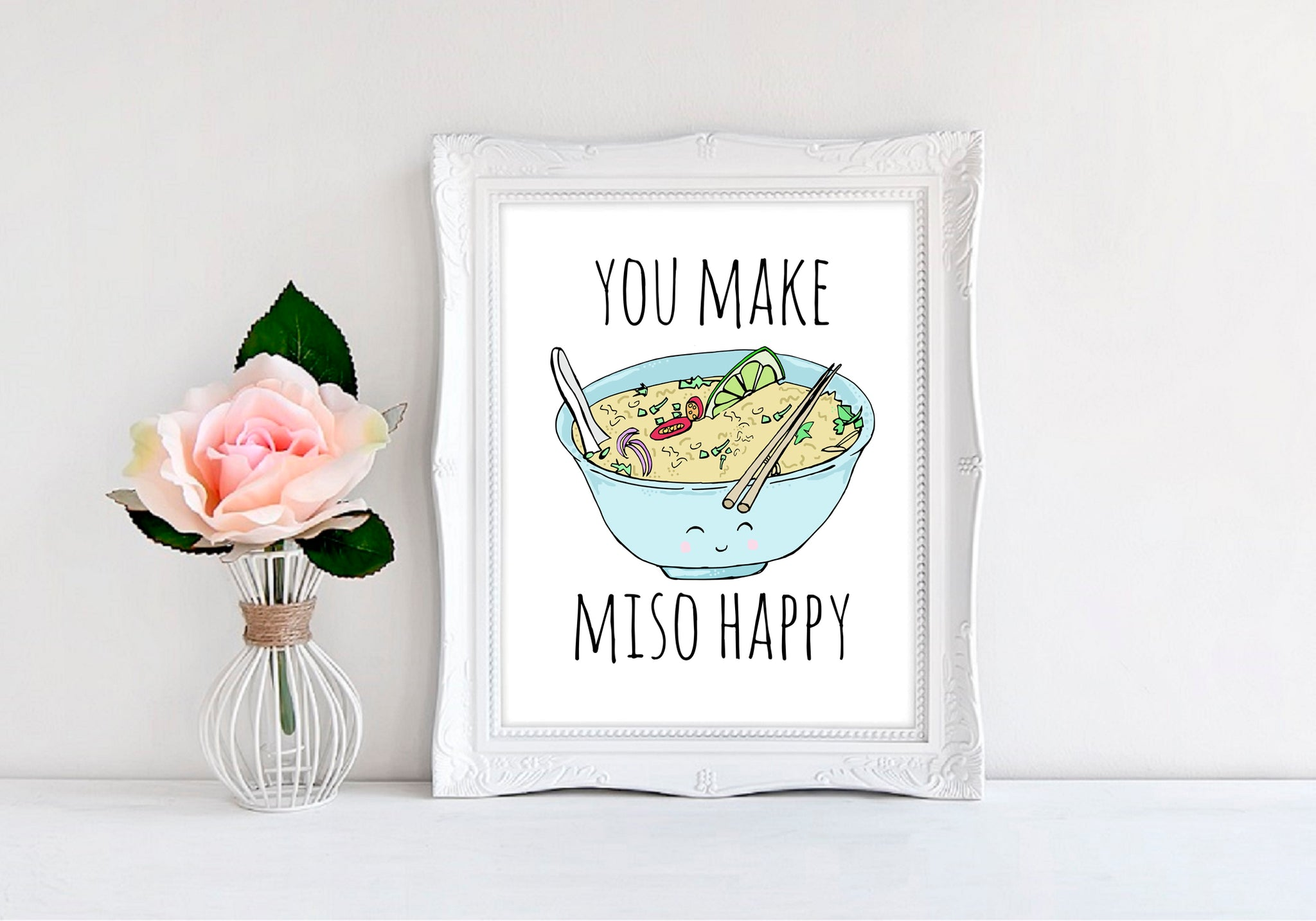 "You Make Miso Happy - 8""x10"" Wall Print - MoonlightMakers"