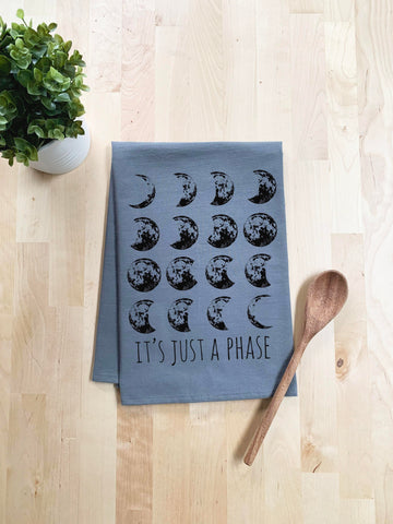It's Just A Phase, Moon Towel Dish Towel - White Or Gray - MoonlightMakers