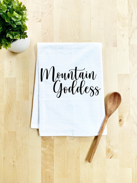 Mountain Goddess Dishtowel - White Or Gray - MoonlightMakers