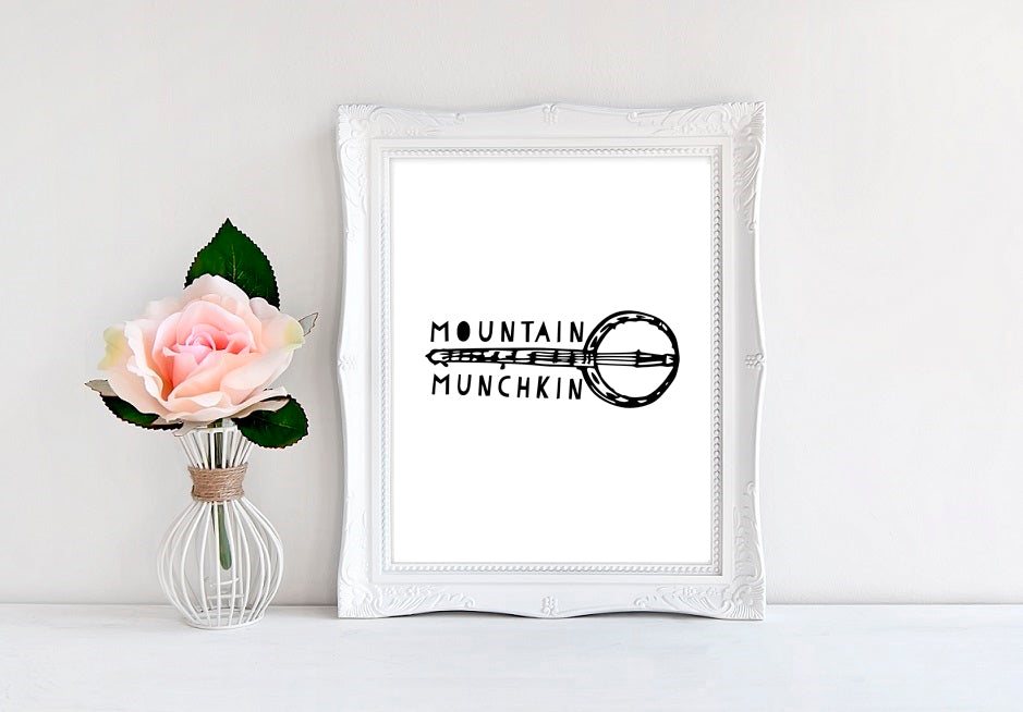 "Mountain Munchkin - 8""x10"" Wall Print - MoonlightMakers"