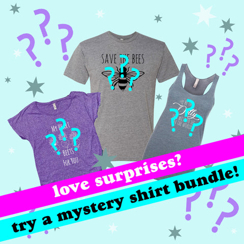 Clearance - Mystery Set of 3 Shirts - Tank, Ladies Tee, Men's Tee - Sale - MoonlightMakers