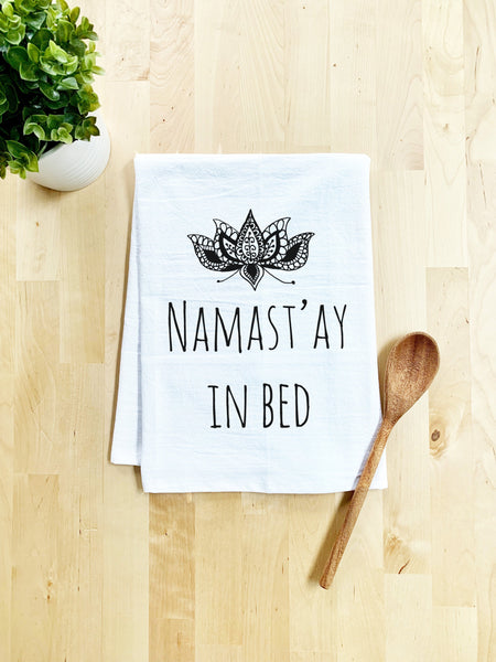 Namast'ay in Bed Dish Towel - White Or Gray - MoonlightMakers