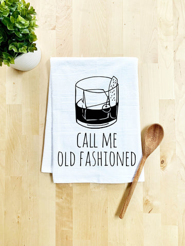 Call Me Old Fashioned Dish Towel - White Or Gray - MoonlightMakers
