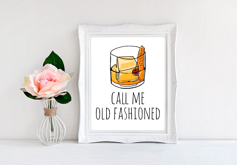 "Call Me Old Fashioned - 8""x10"" Wall Print"