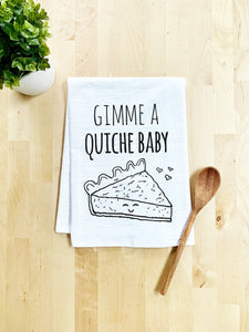 Gimme A Quiche - Dish Towel - White Or Gray - MoonlightMakers