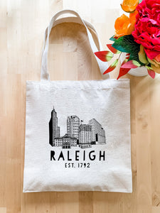 Raleigh Skyline - Tote Bag - MoonlightMakers
