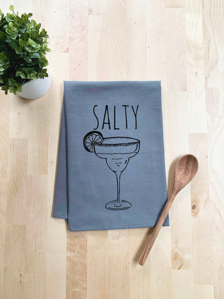 Salty Dish Towel - White Or Gray - MoonlightMakers
