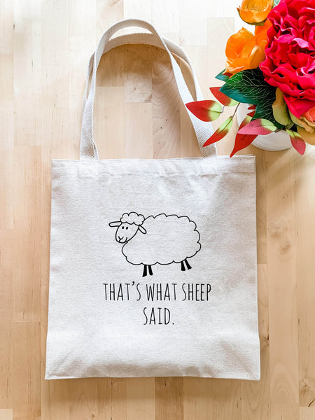 That's What Sheep Said - Tote Bag - MoonlightMakers