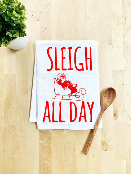 Sleigh All Day Dish Towel - White - MoonlightMakers