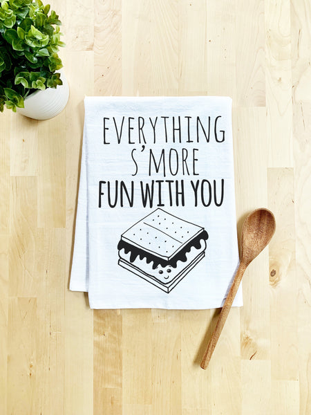 Everything's S'more Fun With You Dish Towel - White Or Gray - MoonlightMakers