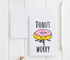 Donut Worry - Greeting Card - MoonlightMakers