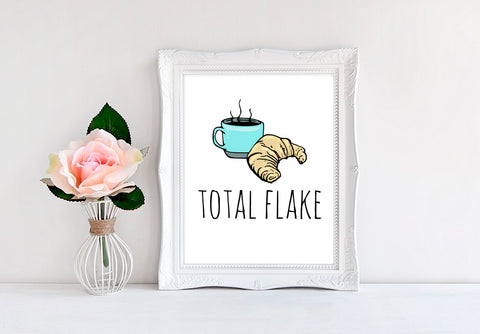 "Total Flake - 8""x10"" Wall Print"