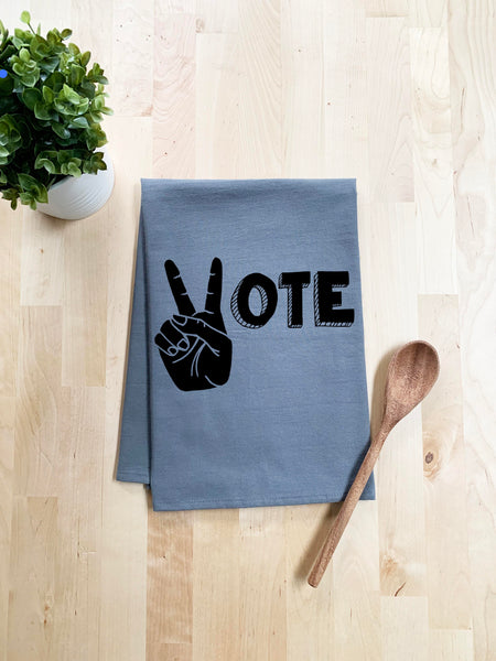 Vote Dish Towel - White Or Gray - MoonlightMakers