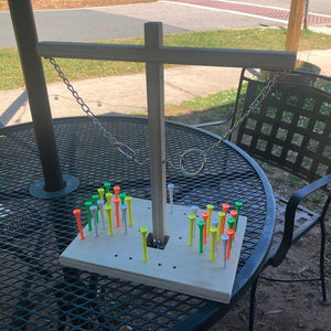 Dual Ring Daddy With Dual Peg Game and Peg Shot Ladder