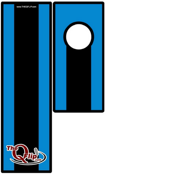 Black and Blue 1 Hole Tabletop/Bar Board