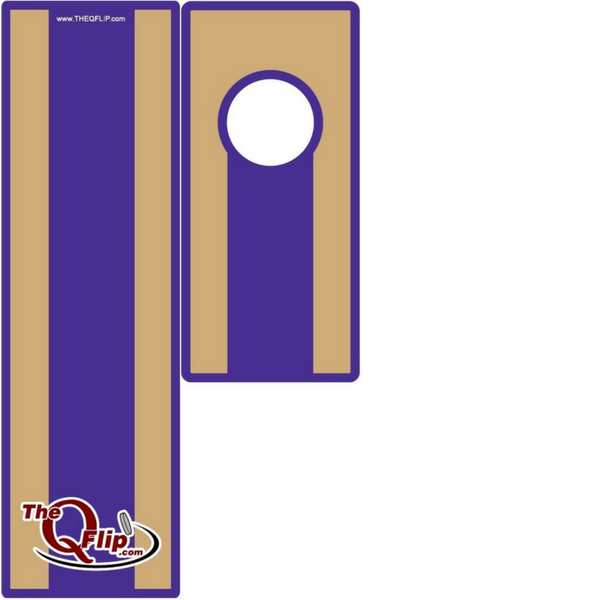 Purple and Gold 1 Hole Tabletop/Bar Boards