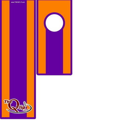 The Clemson Tigers themed Q Flip is great to play before and during the game or tailgate party when you can't play cornhole. The unique tethered Q is flipped not bounced and won't go missing at the tailgate or dorm party like a coin or bag. It takes the coinhole games to a whole new level of play.