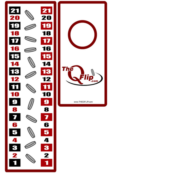 The Q Flip is the best tabletop cornhole game in the world. The unique tethered Q is flipped not bounced and won't go missing at the tailgate or dorm party like a coin or bag. It takes the coinhole games to a whole new level of play. It makes(is) a great gift for the bachelor, bachelorette or college graduate.