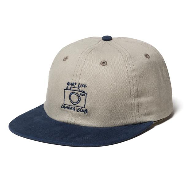 Quiet Life - Camera Club Polo Hat (OSF, Stone/Navy)