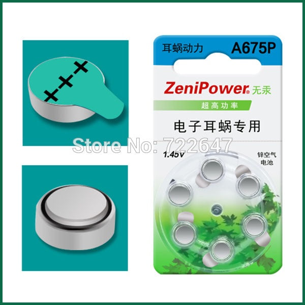 Zenipower Zinc-Air Battery (Mercury replacement)