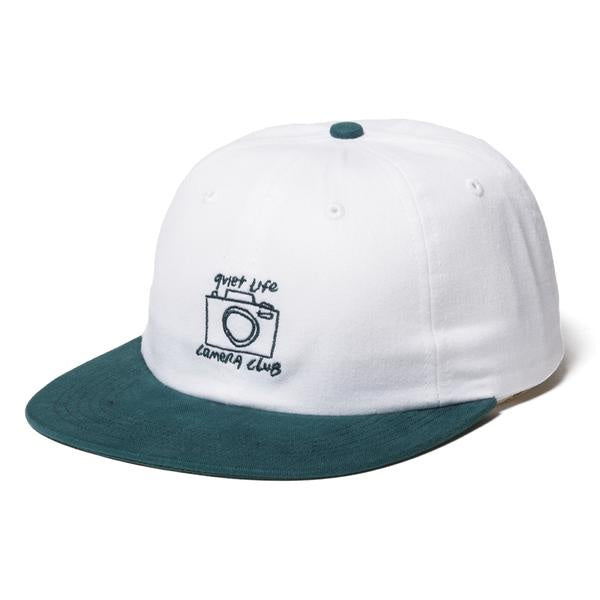 Quiet Life - Camera Club Polo Hat (OSF, White/Hunter)