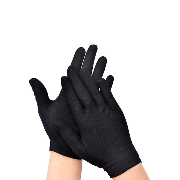 Black Cotton Gloves Pair (Small - Medium)