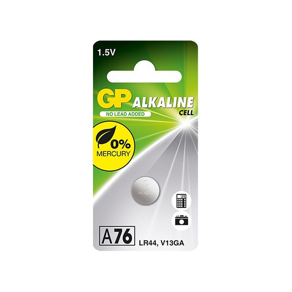 GP Batteries LR44 Button Cell (Equiv. A76 + V13GA)