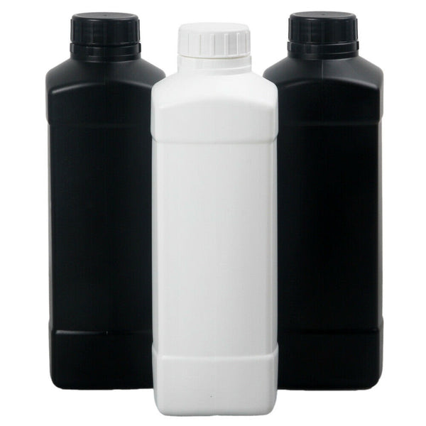 1L Chemical Storage Bottle (black or white)