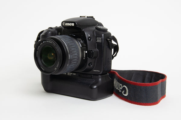 S/hand Canon EOS20D DSLR Body + BG-E2 Grip + EF-S18-55mm Lens Kit
