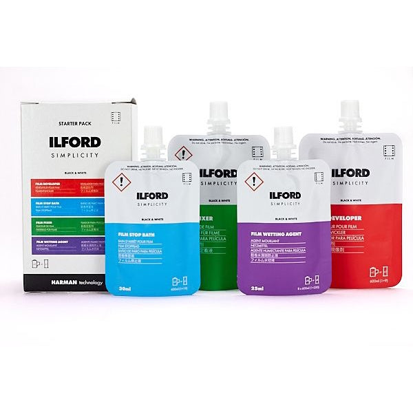 Ilford Simplicity Starter Pack (includes: Dev, Stop, Fix and Wetting Agent)