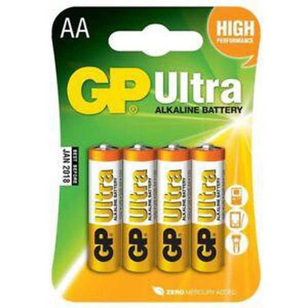 GP Batteries AA Super Alkaline Battery (4 pack)