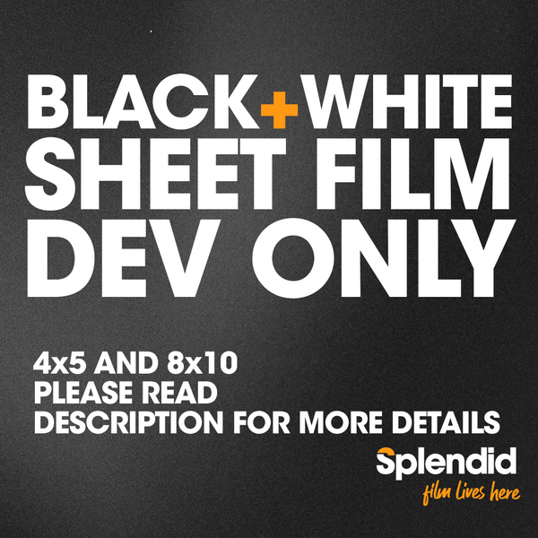 Sheet Film Develop Only (B&W)