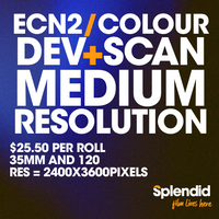 Develop and Scan - Medium Resolution (ECN2/Colour Film)