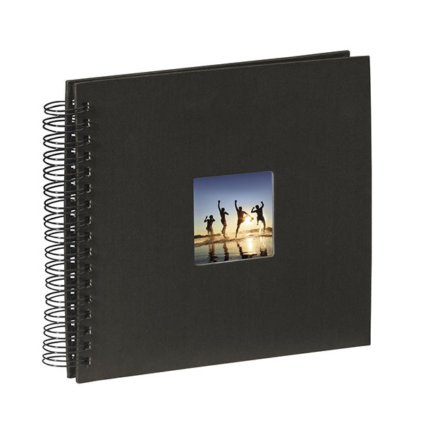 Hama Spiral Bound Black Page Album  (24cm x 17cm, 50 Pages)