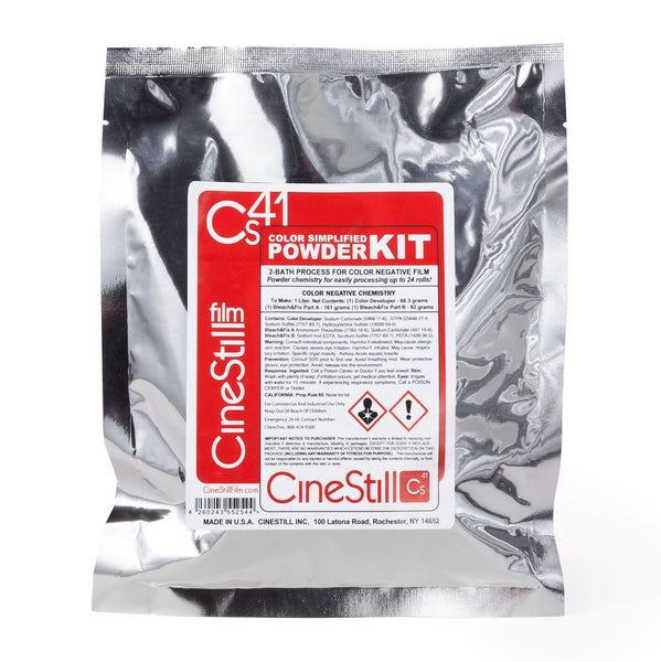 CineStill Cs41 Colour Simplified C41 2-Bath Kit (Powder Makes 1L Working Solution)