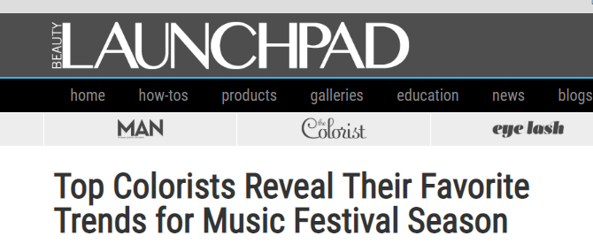Beauty Launchpad - Top Colorists Reveal Their Favorite Trends for Music Festival Season