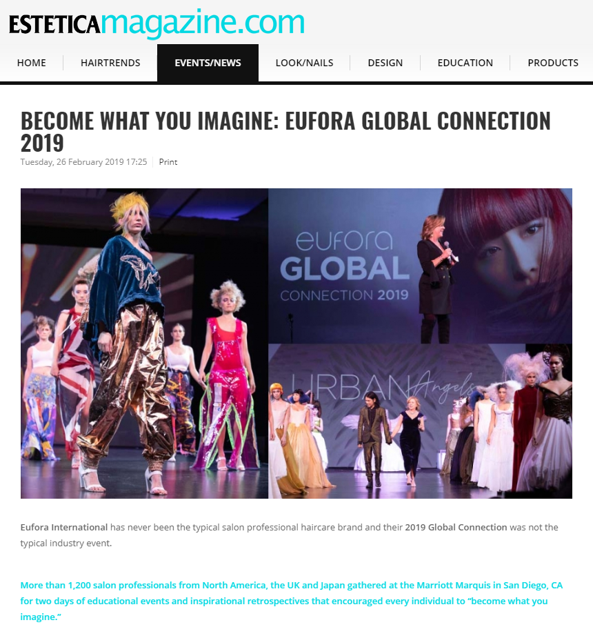 Estetica Magazine - BECOME WHAT YOU IMAGINE: EUFORA GLOBAL CONNECTION 2019
